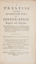 Books:Non-fiction, John Muller. A Treatise Containing the Elementary Part ofFortification, Regular and Irregular. London: J. Nours...