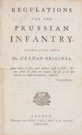 Books:First Editions, Regulations for the Prussian Infantry. Translated Fromthe German Original. London: Paul Vaillant, 1754. FirstEngli...