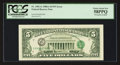 Error Notes:Third Printing on Reverse, Fr. 1981-G $5 1988A Federal Reserve Note. PCGS Choice About New 58PPQ.. ...