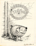 Mainstream Illustration, GARTH MONTGOMERY WILLIAMS (American, 1912-1996). There Was theHandsome Pig, and Over Him, Woven Neatly in Block Letters, ...