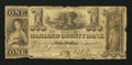 Obsoletes By State:Michigan, Pontiac, MI- Oakland County Bank $1 Oct. 10, 1843. ...