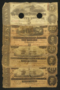 Confederate Notes:1863 Issues, 1863 and 1864 CSA Notes.. ... (Total: 4 notes)