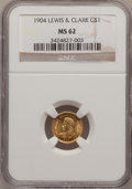 Commemorative Gold, 1904 G$1 Lewis and Clark MS62 NGC....