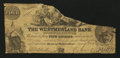 Canadian Currency: , Bend of Petitcodiac, NB- Westmoreland Bank of New Brunswick $4 May1, 1856 Ch. # 800-10-36. ...