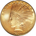 Indian Eagles, 1911-S $10 MS66 PCGS....