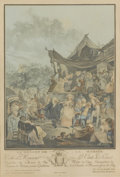 Prints:Old Master, PHILIBERT-LOUIS DE BUCOURT (French, 1755-1832). Le Menuet de laMeriee, 1786. Color aquatint and etching on paper. 14-3/...(Total: 1 Item)