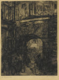 Prints:American, JEROME MYERS (American, 1867-1940). Paris Market. Etchingand drypoint. 12in. x 9in.. Signed at lower right Jerome Mye...(Total: 1 Item)