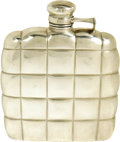 "Movie/TV Memorabilia:Memorabilia, Clark Gable's Whiskey Flask. A 4.5"" x 4.5"" sterling silver whiskeyflask owned and used by Clark Gable. Kept in almost prist...(Total: 1 Item)"