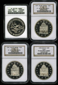 Macao, Macao: 100 Patacas silver lot:... (Total: 4 coins)