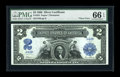 Large Size:Silver Certificates, Fr. 254 $2 1899 Silver Certificate PMG Gem Uncirculated 66 EPQ....
