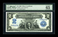 Large Size:Silver Certificates, Fr. 249 $2 1899 Silver Certificate PMG Gem Uncirculated 65 EPQ....