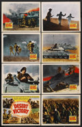 "Movie Posters:Documentary, Desert Victory (20th Century Fox, 1943). Lobby Card Set of 8 (11"" X 14""). Academy Award Winning Documentary. ... (Total: 8 Items)"