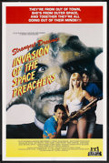 """Movie Posters:Science Fiction, Invasion of the Space Preachers (Troma, 1990). One Sheet (27"""" X41"""") SS. Science Fiction. ..."""