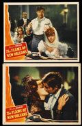 """Movie Posters:Romance, The Flame of New Orleans (Universal, 1941). Lobby Cards (2) (11"""" X 14""""). Comedy. ... (Total: 2 Items)"""