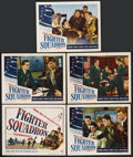 "Movie Posters:War, Fighter Squadron (Warner Brothers, 1948). Title Lobby Card and Lobby Cards (4) (11"" X 14""). War. ... (Total: 5 Items)"