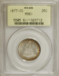 Seated Quarters: , 1877-CC 25C MS61 PCGS. PCGS Population (18/295). NGC Census:(13/251). Mintage: 4,192,000. Numismedia Wsl. Price for NGC/PC...