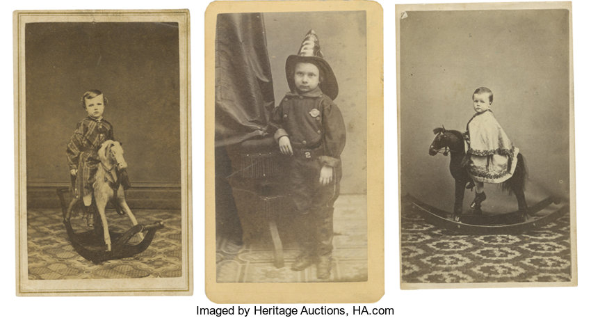 PhotographyCDVs Carte De Visite Of Child Dressed As Fireman And Two CDVs OfChildren