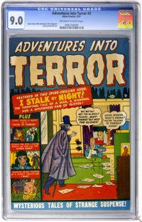 Adventures Into Terror #3 (Atlas, 1951) CGC VF/NM 9.0 Off-white to white pages