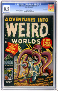 Adventures Into Weird Worlds #3 White Mountain pedigree (Atlas, 1952) CGC VF+ 8.5 White pages
