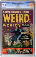 Golden Age (1938-1955):Horror, Adventures Into Weird Worlds #4 White Mountain pedigree (Atlas,1952) CGC VF- 7.5 White pages....