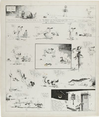 George Herriman - Krazy Kat Sunday Comic Strip Original Art, dated 8-20-16 (King Features Syndicate, 1916)
