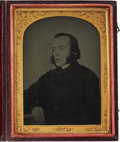 Photography:Ambrotypes, Quarter Plate English Ambrotype of a Bewhiskered YoungGentleman....