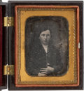 Photography:Daguerreotypes, Black Ninth Plate Thermoplastic Case....