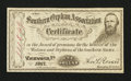 Obsoletes By State:Virginia, Richmond, Va- Southern Orphan Association Certificate $1 1867. ...