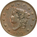 Large Cents, 1823/2 1C AU58 NGC. CAC. N-1, Low R.2....