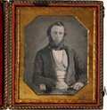 Photography:Daguerreotypes, Scarce Eagle on Shield Leather Patriotic Case....
