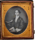 Photography:Daguerreotypes, Sixth Plate Daguerreotype of a Beautiful Young Woman by S.Broadbent....