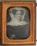Photography:Daguerreotypes, Quarter Plate Daguerreotype of an Early Nineteenth Century Painting....