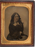 Photography:Ambrotypes, Double-Sided Quarter Plate Ambrotype, Circa 1858....