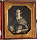 Photography:Daguerreotypes, Rare Sixth Plate Daguerreotype of a Very Young Woman by Pioneer Photographer John Plumbe....