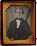 Photography:Daguerreotypes, Quarter Plate Daguerreotype Portrait of a Distinguished Gentleman....