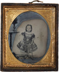 Photography:Ambrotypes, Charming Sixth Plate Ambrotype of a Cute Little Girl....