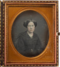 Photography:Daguerreotypes, Sixth Plate Daguerreotype of an Attractive Young Woman by Jeremiah Gurney, Circa 1855....