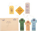 Baseball Collectibles:Tickets, 1963 World Series Press Credentials Lot of 6, With OriginalEnvelope....