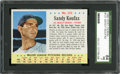 Baseball Cards:Singles (1960-1969), 1963 Post Cereal Sandy Koufax #121 SGC 84 NM 7....