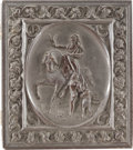 """Photography:Ambrotypes, Brown Thermoplastic Sixth Plate Case """"Chasse Au Faucon.""""..."""