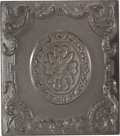 Photography:Ambrotypes, Brown Sixth Plate Thermoplastic Case....