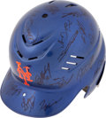 Baseball Collectibles:Others, 2007 New York Mets Team Signed Helmet....