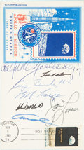 Autographs:Celebrities, Apollo 8 Crew-Signed Stamp First Day Cover, also Signed by GeorgeBush and Others....