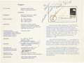 Autographs:Celebrities, Apollo 8 Crew-Signed Stamp First Day of Issue Ceremony Program,also Signed by Robert Gilruth and Others....