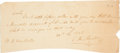 "Autographs:Statesmen, Stephen F. Austin Autograph Document Signed. One page, 8"" x 3.5"", n.p., November 12, 1828. Austin writes this note to M. B. ..."