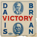 Political:Small Paper (1896-present), Davis & Bryan: Colorful 1924 Davis and Bryan Jugate Stamp....