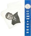 "Political:Textile Display (1896-present), John F. Kennedy: Kennedy Souvenir Handkerchief and ""Citizens forKennedy"" Ribbon.... (Total: 2 Items)"