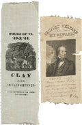 Political:Ribbons & Badges, Henry Clay: Two Ribbons.... (Total: 2 Items)