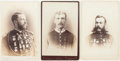 Photography:Cabinet Photos, Three Cabinet Cards Depicting Marksmen of the New York,Massachusetts and Connecticut State Guards, Circa 1885.... (Total:3 Items)