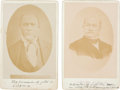 Photography:Cabinet Photos, California Gold Rush: John A. Sutter and James W. Marshall CabinetCards.... (Total: 2 Items)